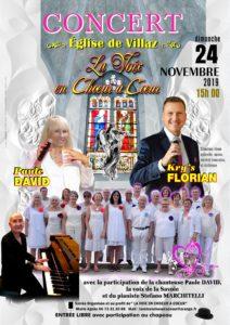 Concert la voix en chœur à cœur@église de Villaz